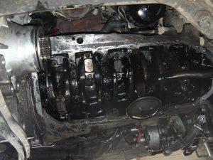 "Getriebe ist drin, fehlt noch die ""Syncro""-Ölwanne"