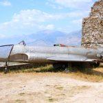US-amerikanische Lockheed T33 auf der Burg... wurde 1957 in Mittelalbanien zur Landung gezwungen.